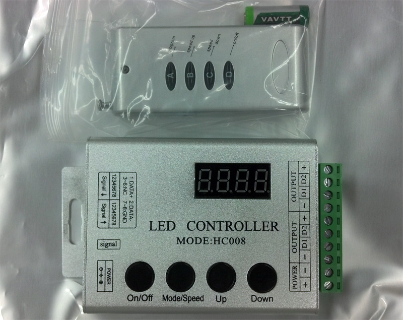 TM1809_smart_intelligent_programmable_digital_flexible_RGB_5050_LED_light_strip_HC008_controller